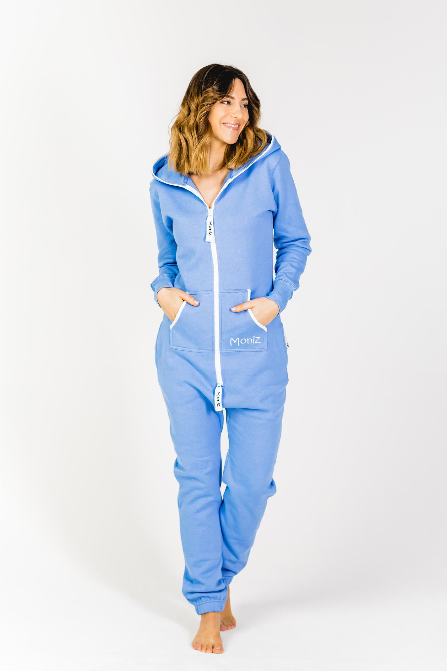 Moniz Damen Jumpsuit Graublau - Beach Blue