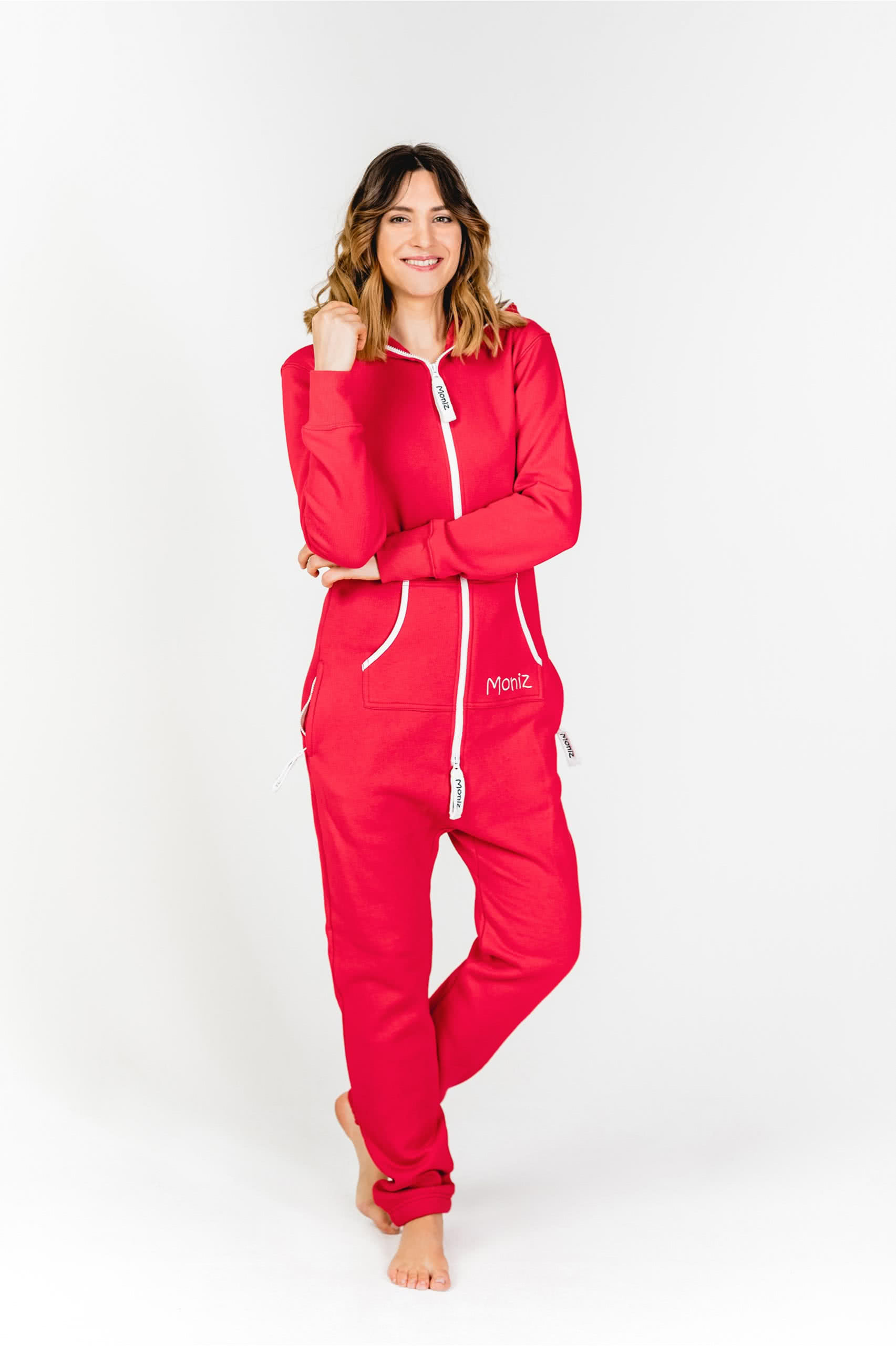 Moniz Damen Jumpsuit Rot - Strawberry Red