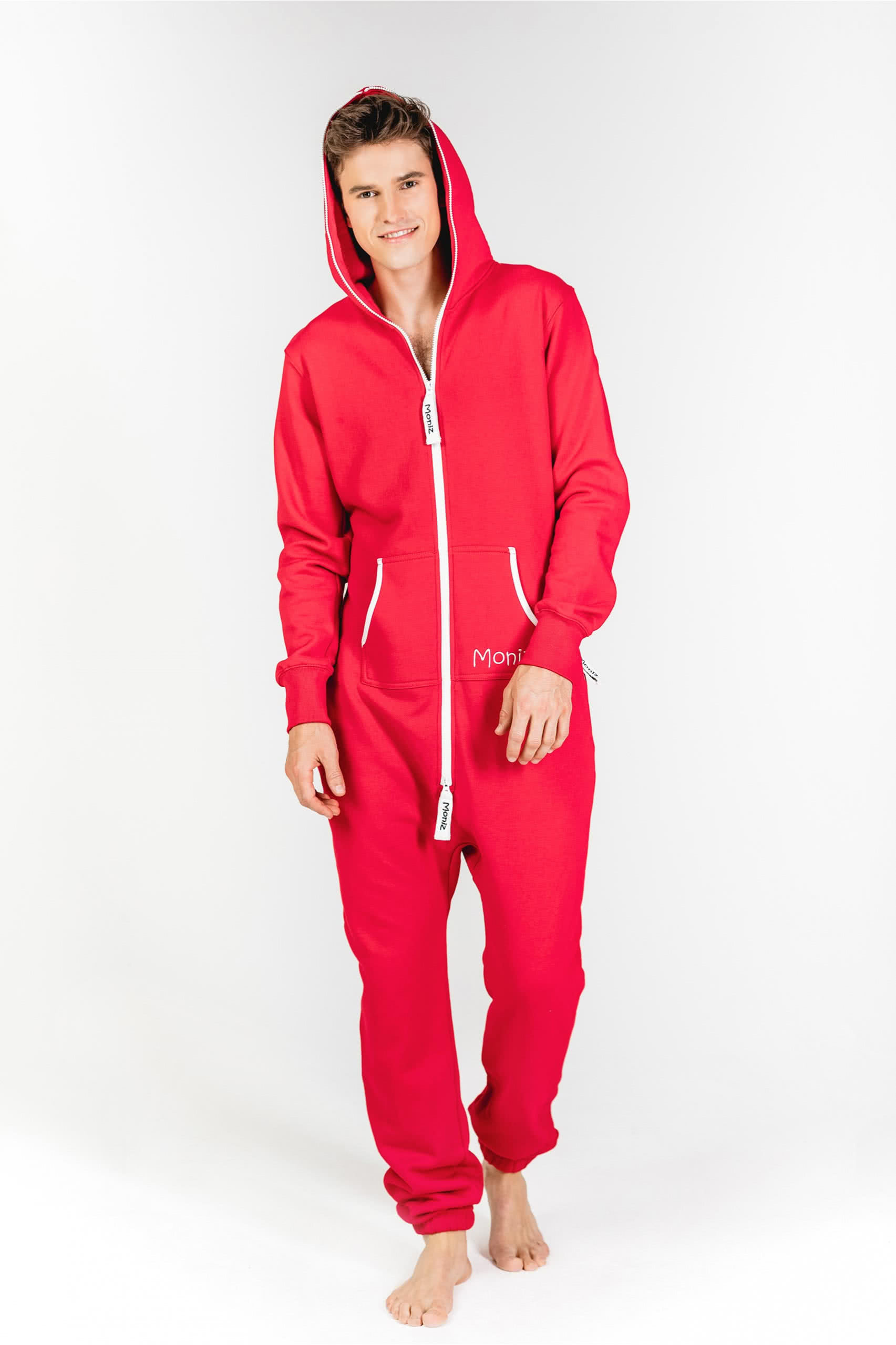 Moniz Herren Jumpsuit Rot - Strawberry Red