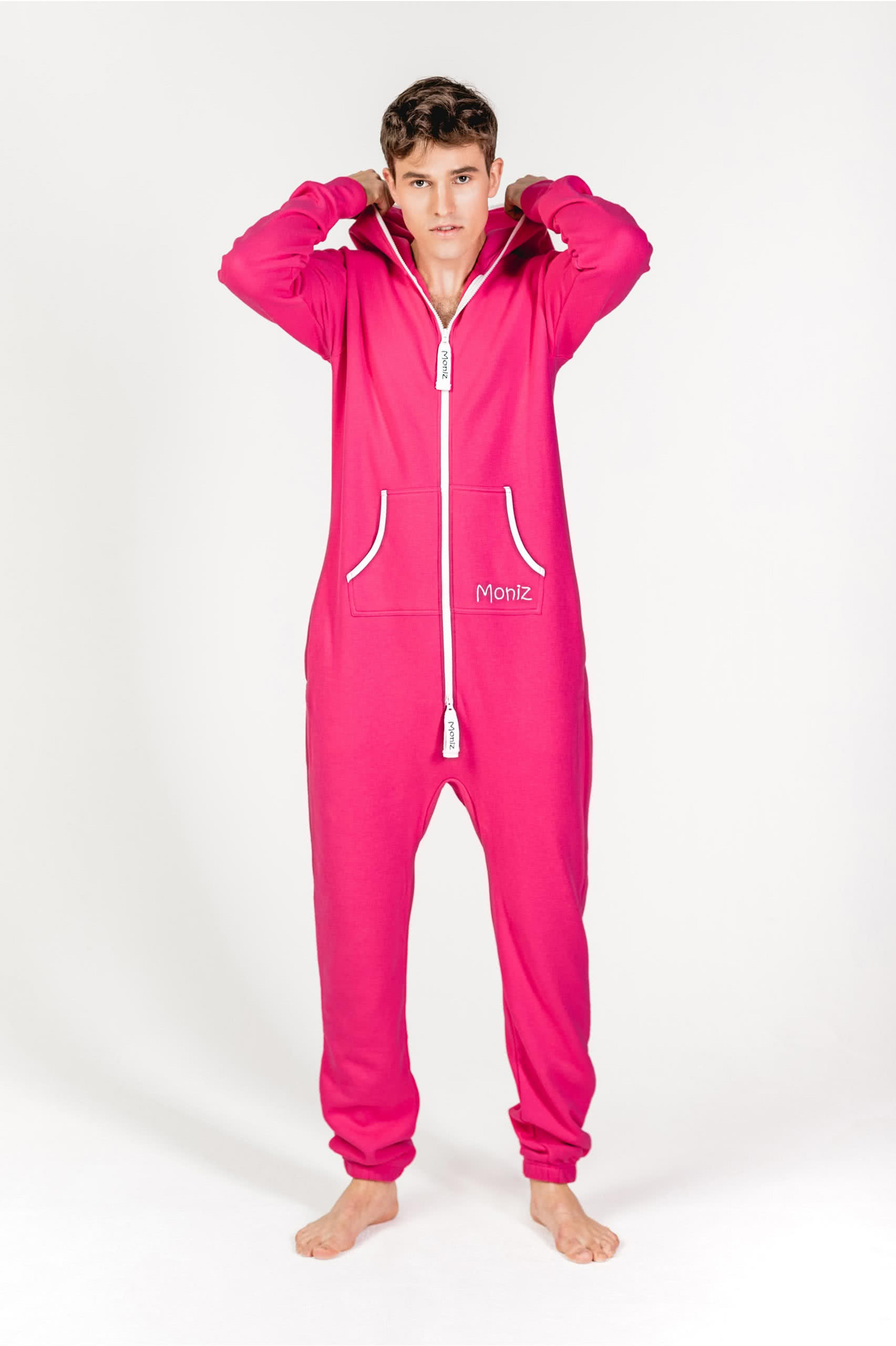 Moniz Herren Jumpsuit Pink - Watermelon Pink