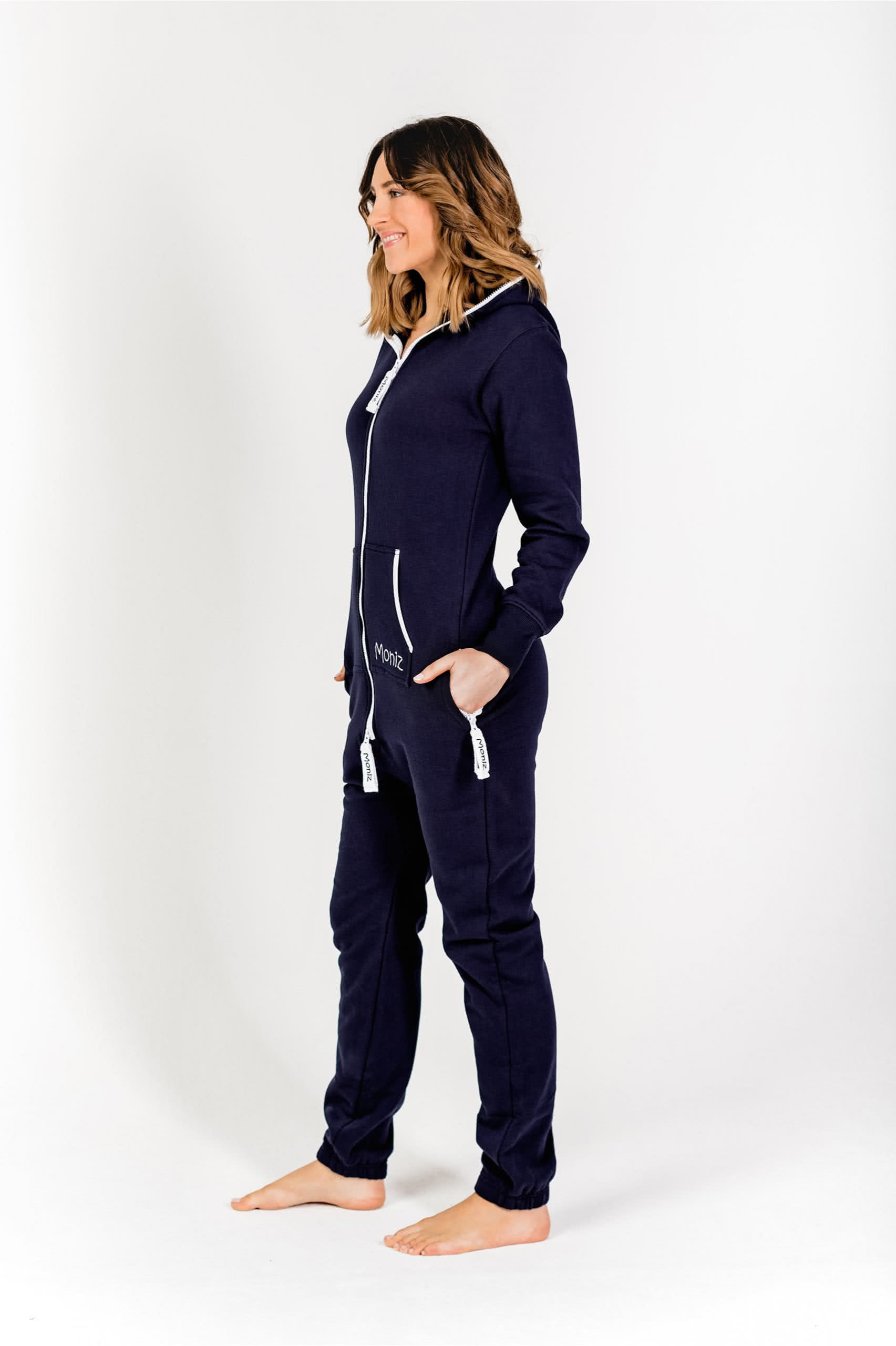 Moniz Damen Jumpsuit Dunkelblau - Moonshine Navy