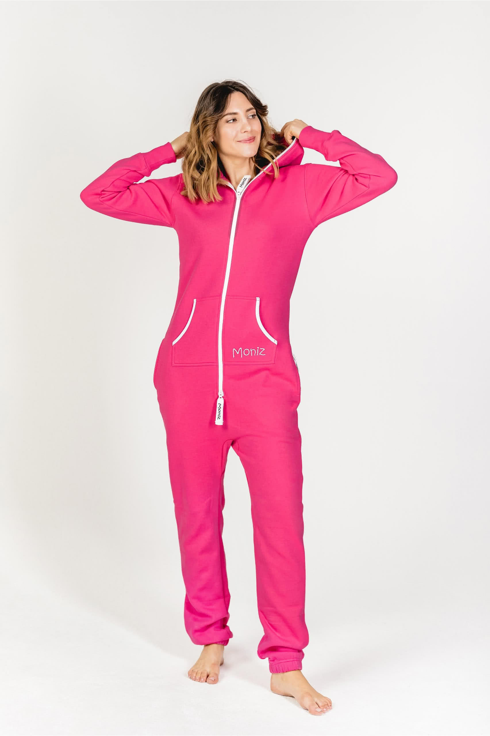 Moniz Damen Jumpsuit Pink - Watermelon Pink