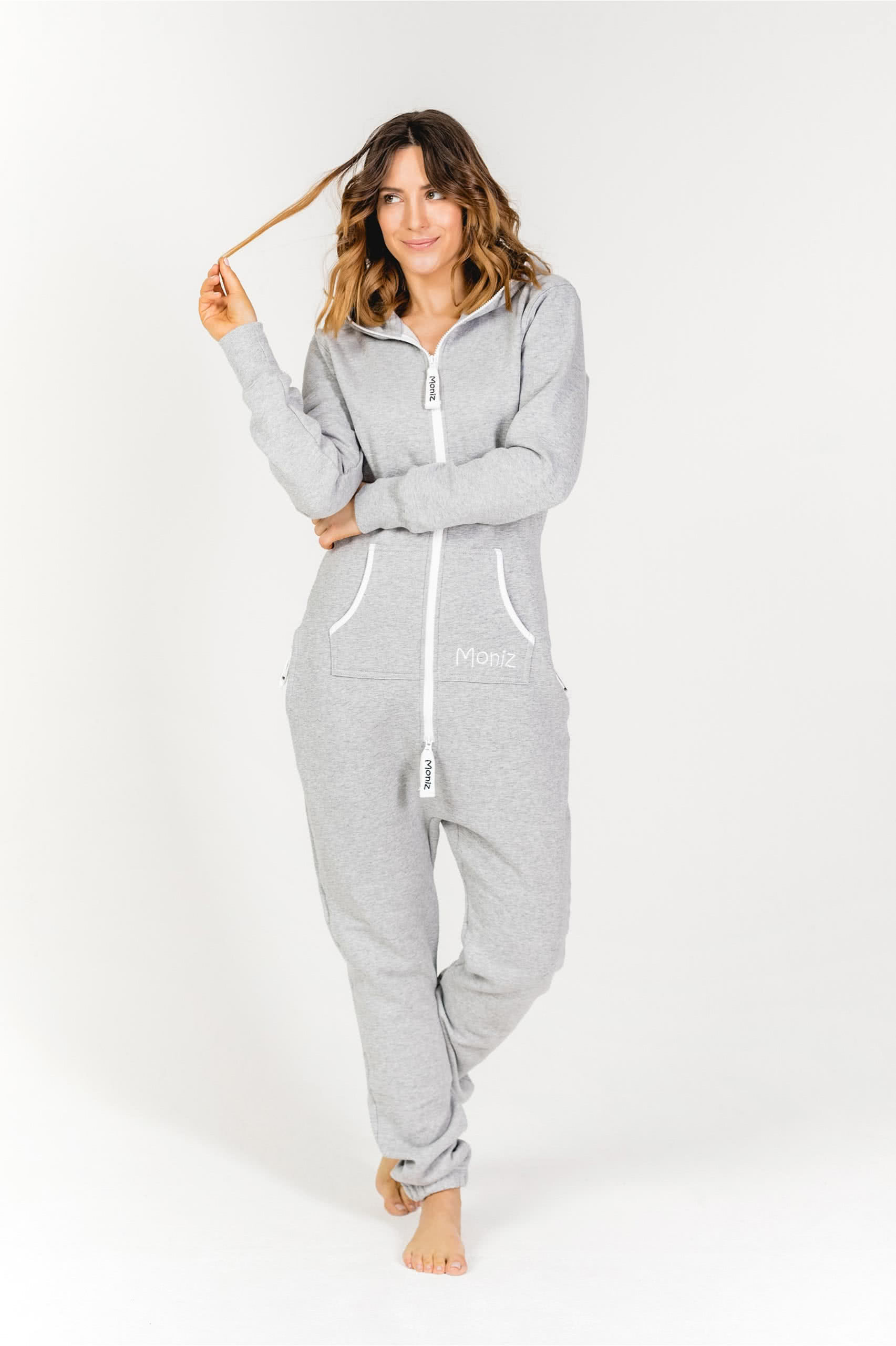 Moniz Damen Jumpsuit Grau - Surfer Grey