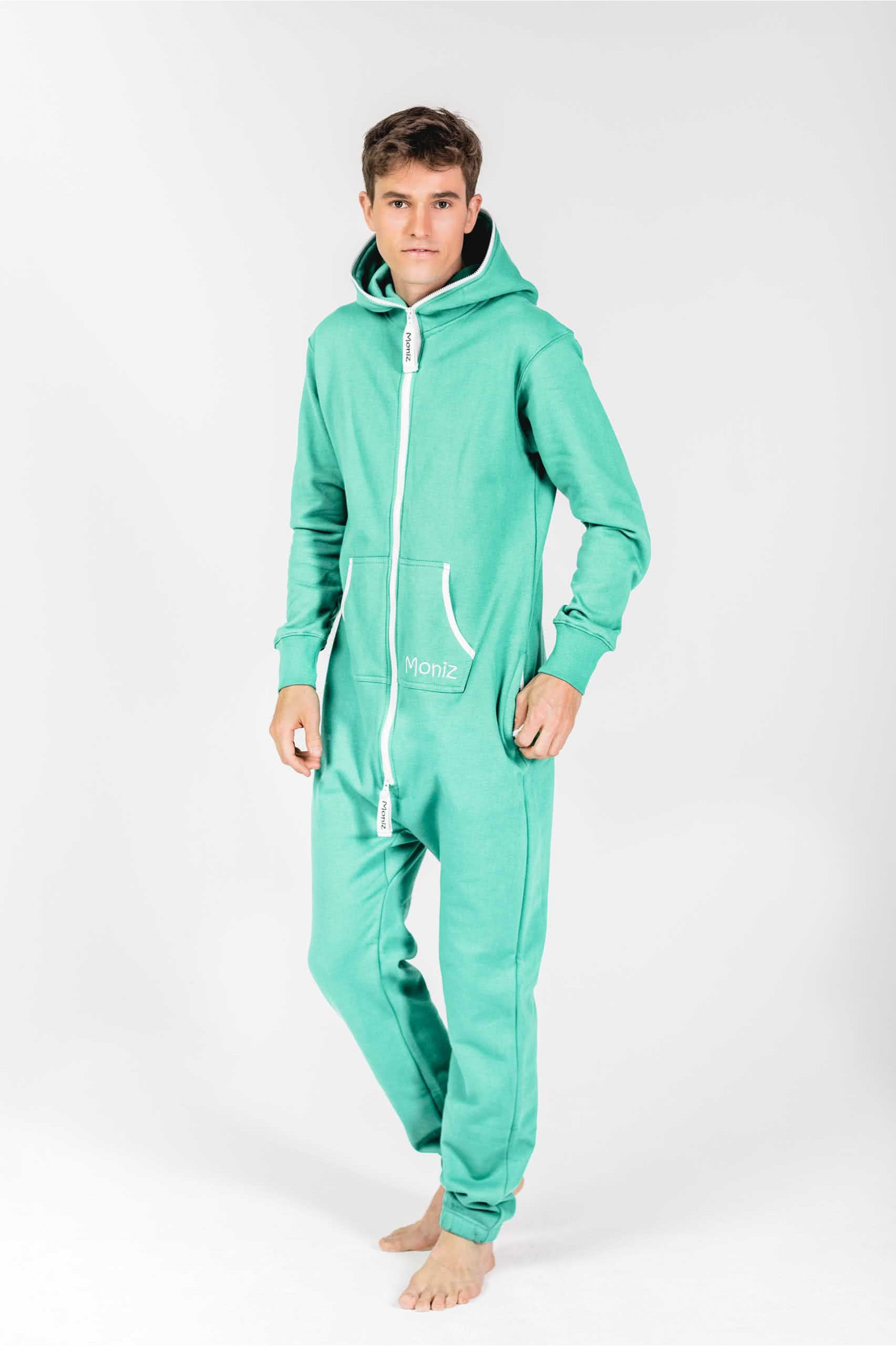 Moniz Herren Jumpsuit Mintgrün - Energetic Mint