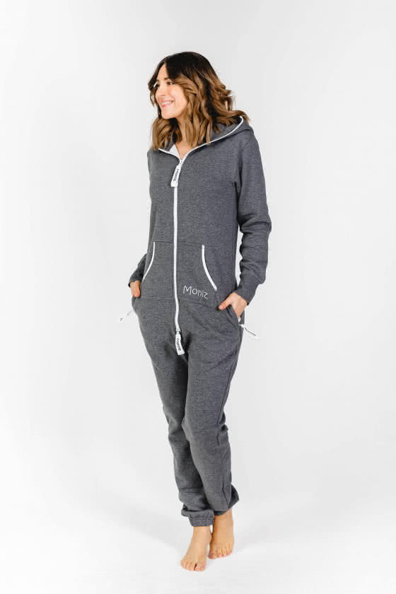 Moniz Damen Jumpsuit Dunkelgrau - Mountain Grey