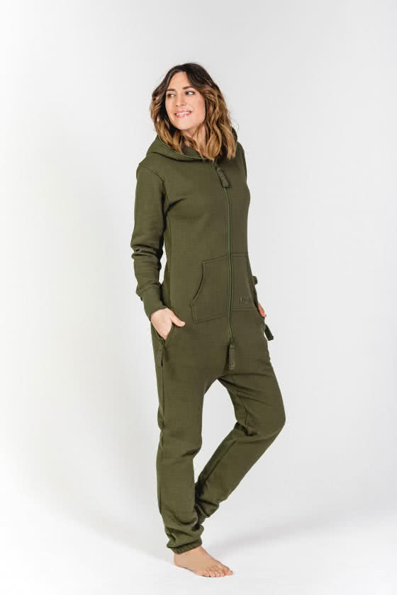 Moniz Damen Jumpsuit Dunkelgrün - Jungle Green
