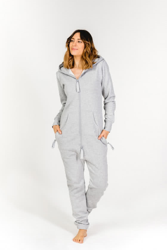 Moniz Damen Jumpsuit Grau - Sand Grey
